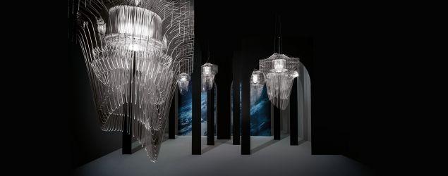 SLAMP   ARIA TRANSPARENT design by ZAHA HADID